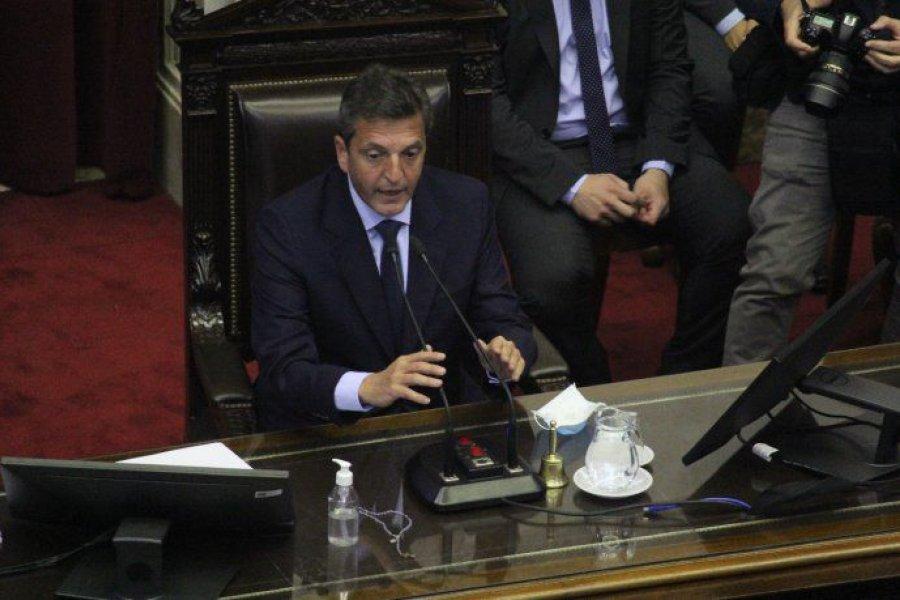 Diputados eligió a sus autoridades y ratificaron a Massa como presidente
