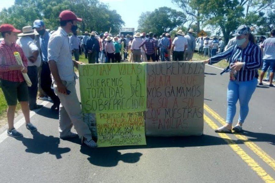 Tabacaleros cortan ruta en Goya