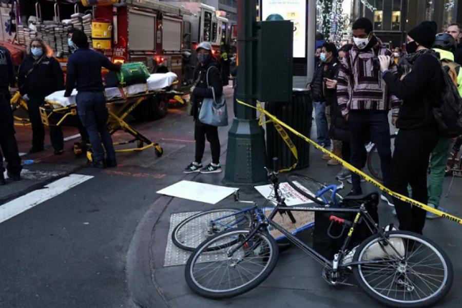 Automovilista atropelló a varios manifestantes en Manhattan