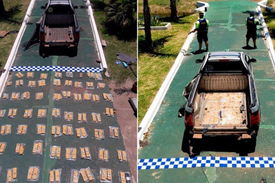 Corrientes: Incautaron millonario cargamento de droga en el límite con Entre Ríos