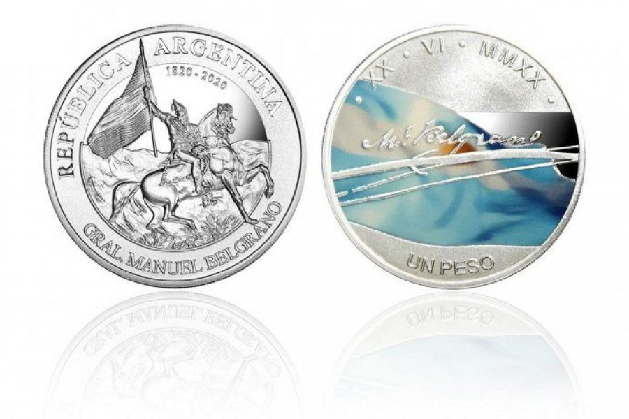 El BCRA emitió una nueva moneda conmemorativa en homenaje a Belgrano