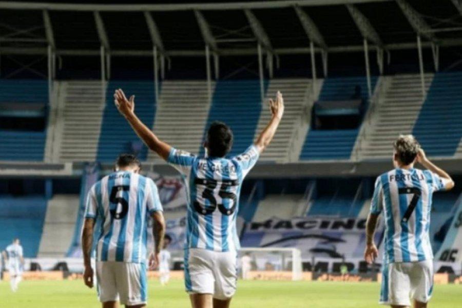 Racing tomó ventaja ante Boca en el partido de ida de cuartos de final