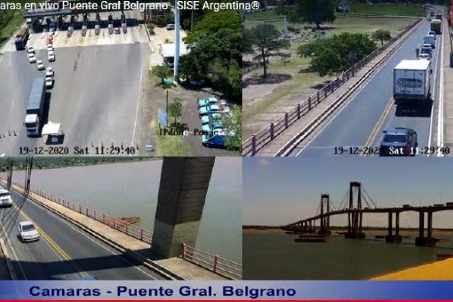 Tránsito con demoras en el puente General Belgrano