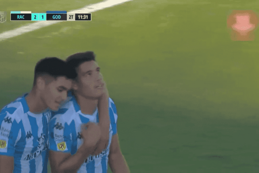 Racing goleó 6 a 1 a Godoy Cruz  y volvió a sonreír