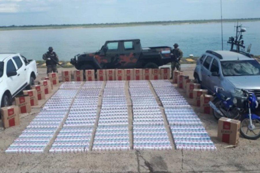 Decomisaron millonario cargamento en cajas de cigarrillos de contrabando