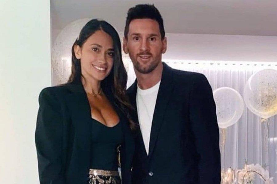 El saludo por Año Nuevo de Antonela Roccuzzo y Leo Messi