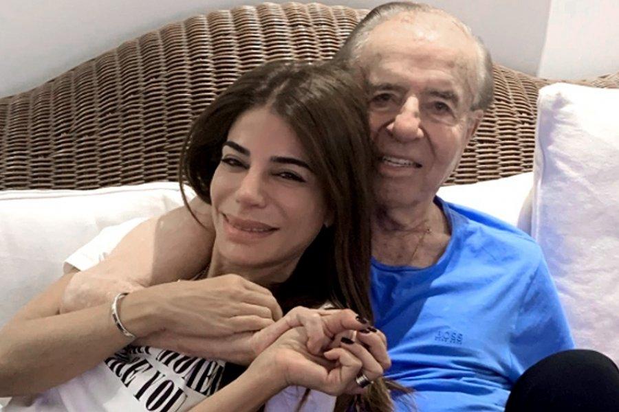 """""""Te ganamos 2020"""", el mensaje de Zulemita en Twitter sobre la salud de Carlos Menem"""