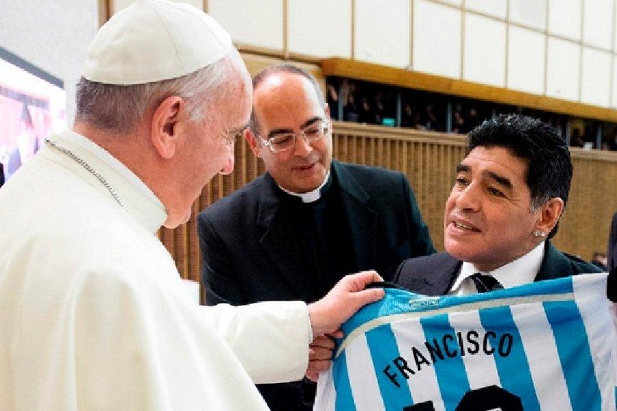 El papa Francisco recordó a Maradona: Fue un poeta en la cancha