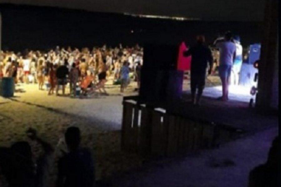 En el primer día del año, la Policía desalojó y clausuró un parador en la playa