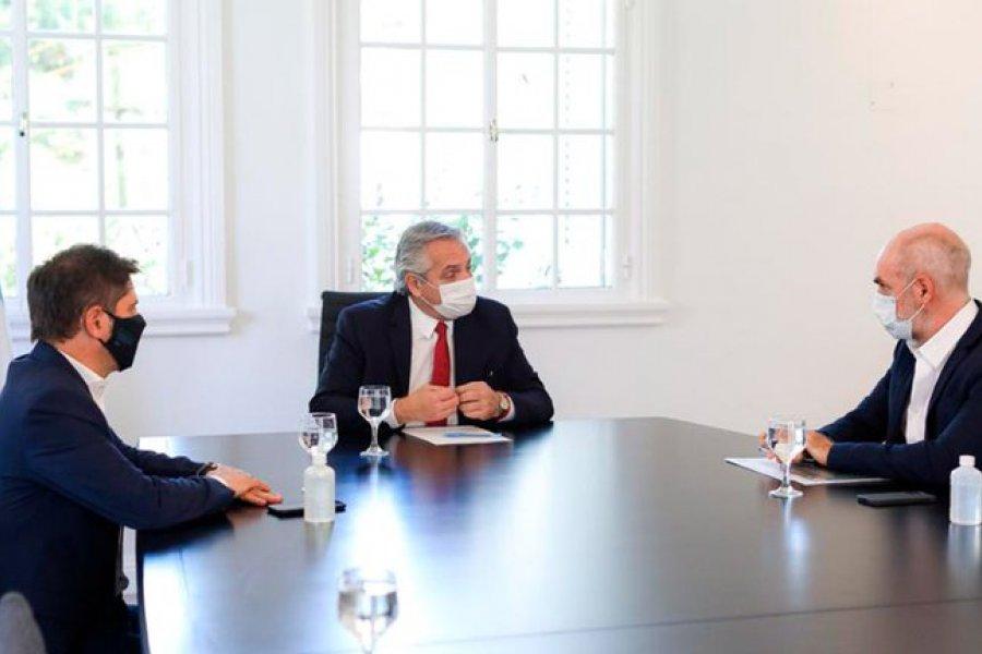 Fernández convocó a Kicillof y a Rodríguez Larreta para diseñar nuevas medidas contra el rebrote