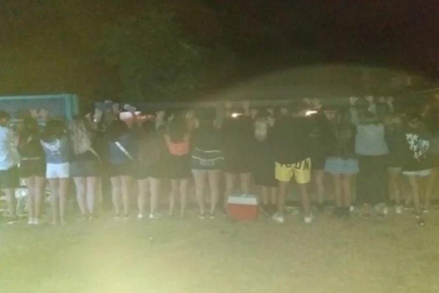 Fiesta clandestina con más de 60 personas en Ituzaingó