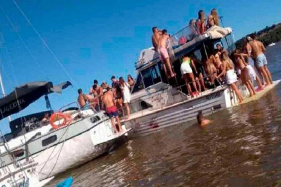 Hicieron una fiesta clandestina en un yate y casi lo hunden en el río Paraná