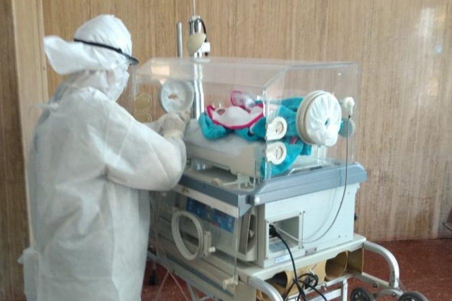 Primer nacimiento del año en el hospital de Campaña