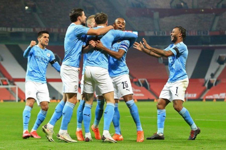Sin Agüero, el City ganó el clásico y se metió en la final de la Copa de la Liga