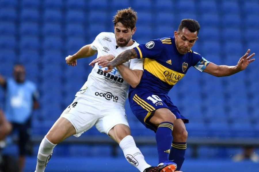 Boca y Santos, sin diferencias en la semifinal de ida de la Copa Libertadores
