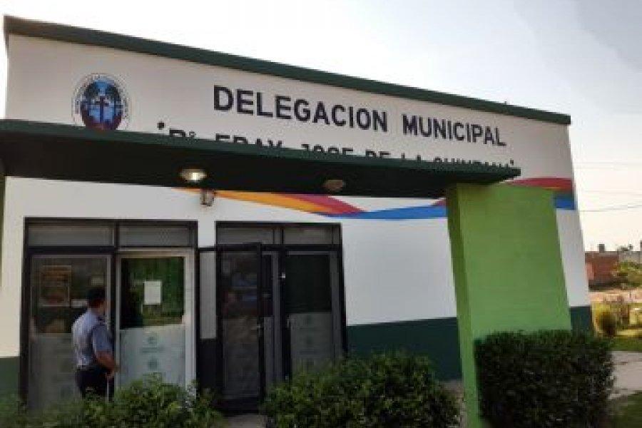 Robaron en la delegación municipal del barrio Fray José de la Quintana