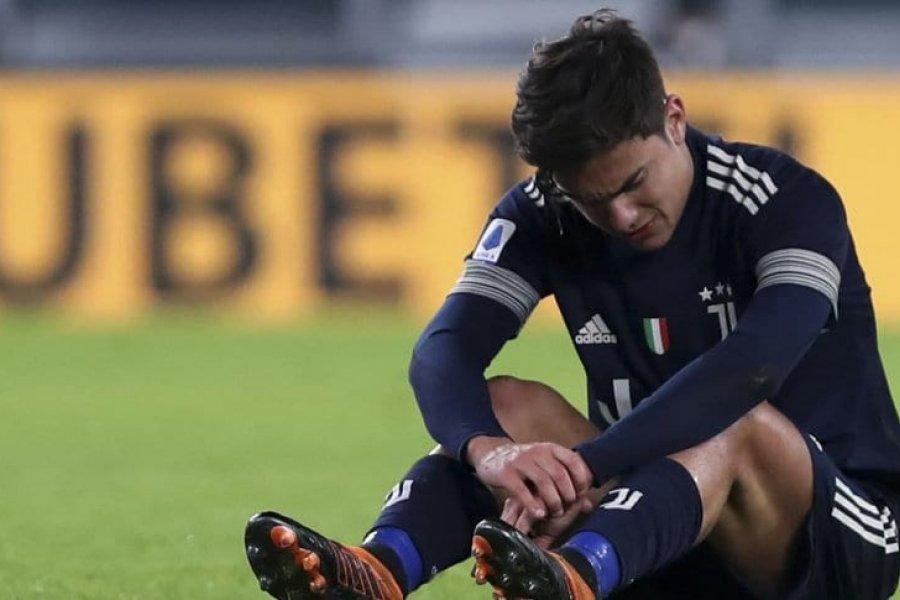 Dybala sufrió una lesión en la rodilla y no podrá jugar por al menos dos semanas