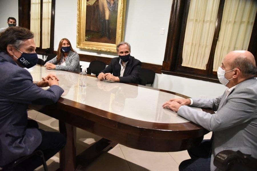 Canteros recibió a José Arteaga Director Ejecutivo  del ente nacional que regula el transporte