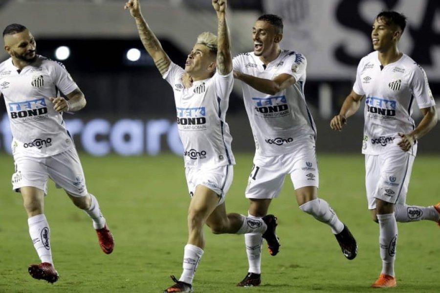 Boca, goleado por Santos en Brasil y eliminado de la Copa Libertadores