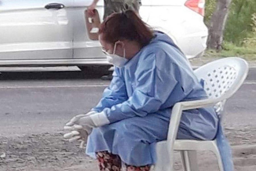 El cansancio de una enfermera correntina se volvió una noticia nacional