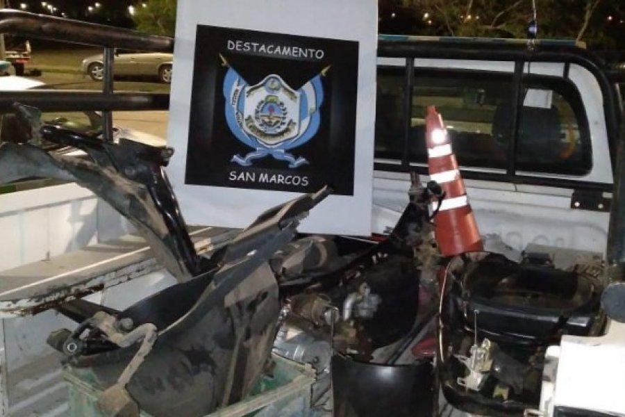 Recuperaron dos motos robadas cuando desarmaban