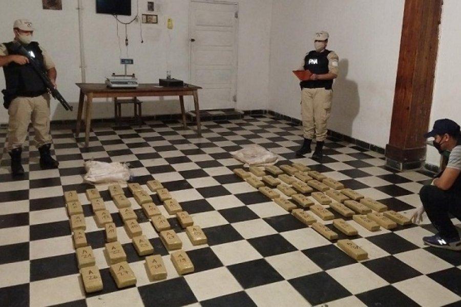 Corrientes: Prefectura secuestró casi 50 kilos de marihuana