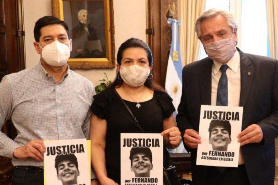 El Presidente recibió a los padres de Fernando Báez sosa a un año de su asesinato