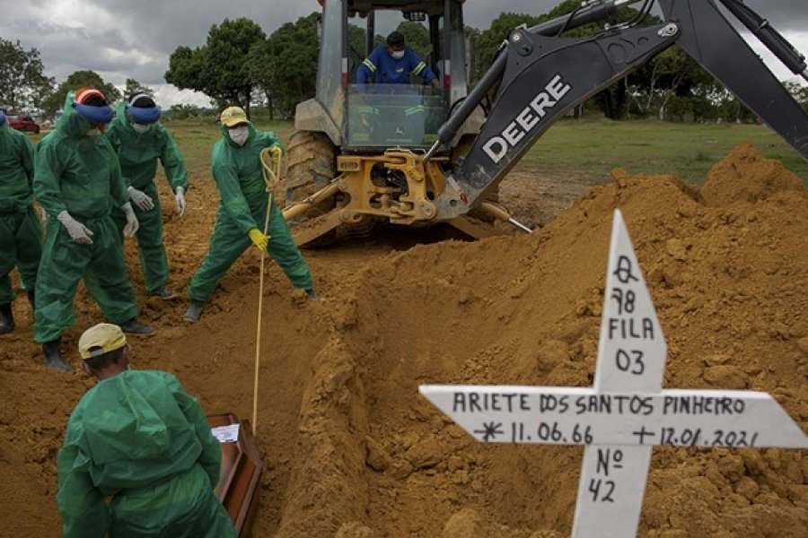 Se acabaron los tubos de oxígeno en Manaos, en una nueva ola de muertes por Covid-19