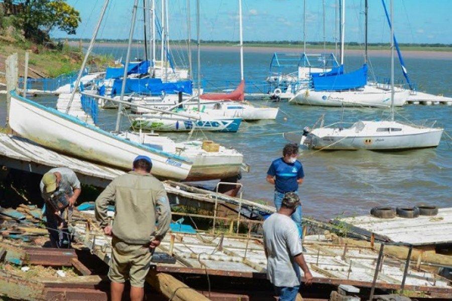 Arrancaron los trabajos de reforma de la marina