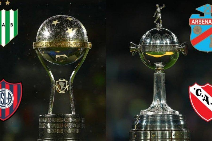 Los equipos argentinos en las copas: los clasificados y los que esperan una chance
