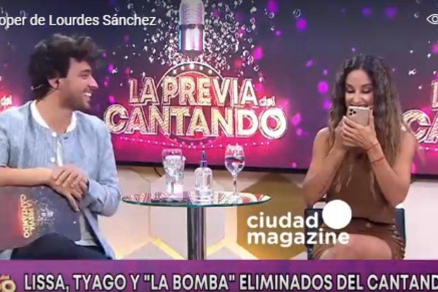 La correntina Lourdes Sánchez se sacó comida de los dientes en vivo