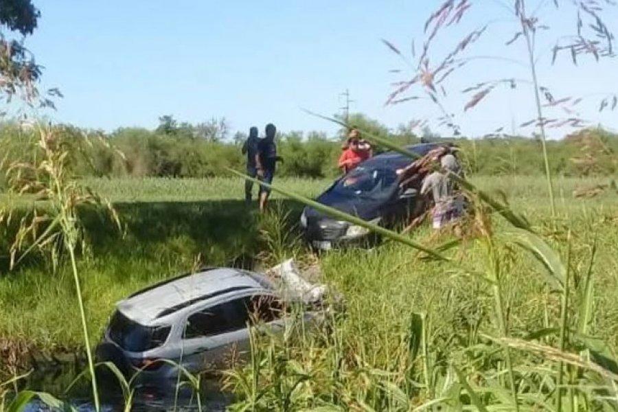 Dos muertos tras el choque entre dos autos en ruta 12