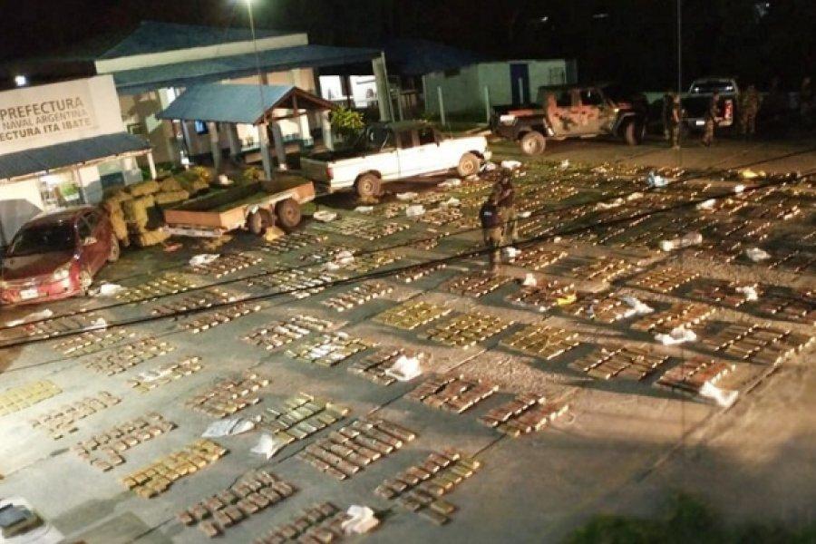 Prefectura secuestró casi dos toneladas y media de marihuana