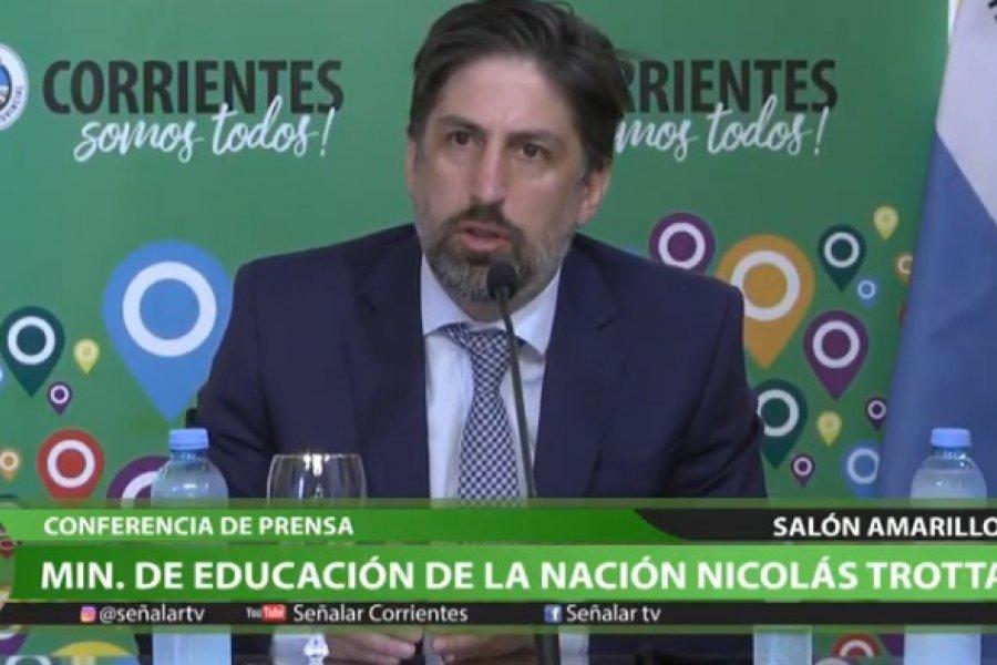 Nicolás Trotta: Será obligatoria la presenciabilidad en el ciclo lectivo 2021