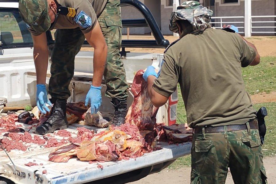 Secuestraron y quemaron 206 kilos de carne en Corrientes
