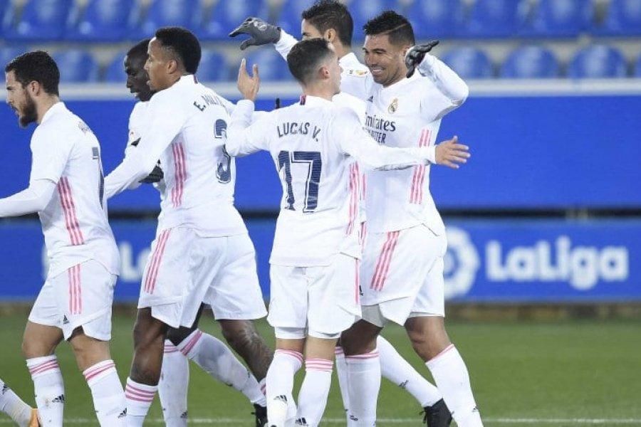Tras el papelón, Real Madrid goleó a Alavés y tomó aire
