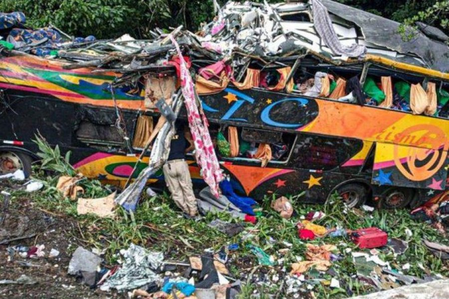 Volcó un micro en Brasil: hay al menos 19 muertos y 33 heridos
