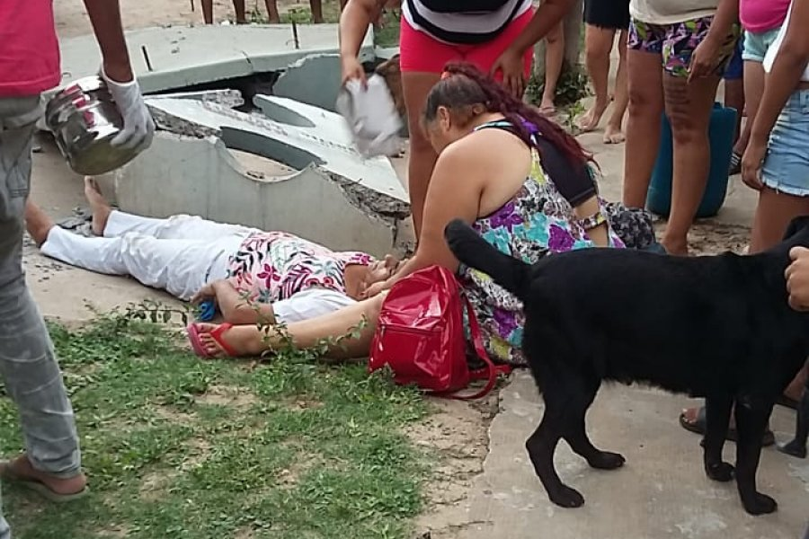 Enfermera murió tras caerle encima una garita municipal