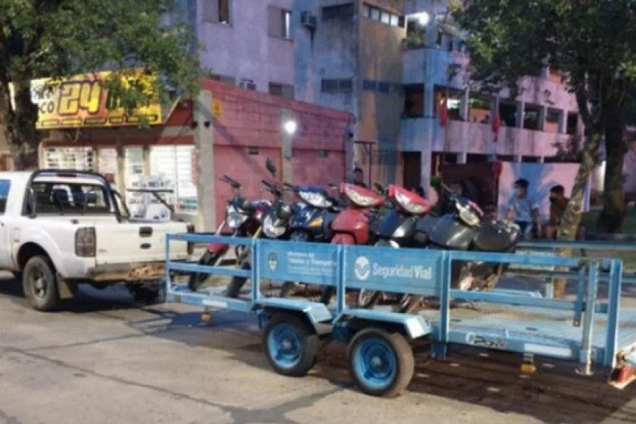 Secuestraron 34 motocicletas secuestradas y demoraron a 11 personas