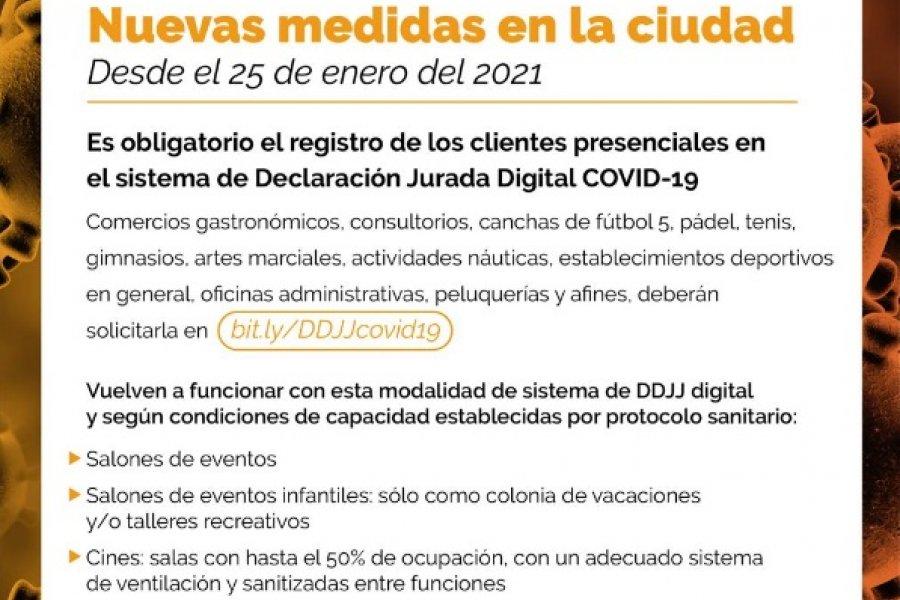 Comercios deberán registrar a sus clientes en el sistema de Declaración Jurada Digital de Covid-19
