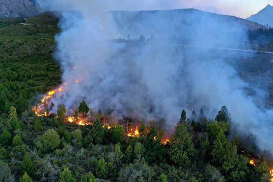 Seis personas fueron imputadas por autoría del incendio forestal en El Bolsón