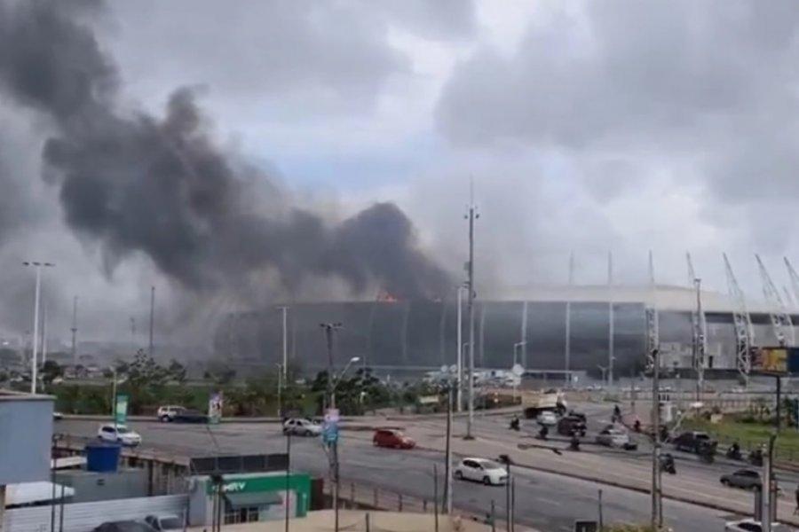 Se incendió un estadio en Brasil antes de un partido