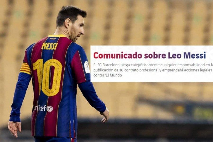 Barcelona desmintió haber filtrado el contrato de Messi y anunció acciones legales