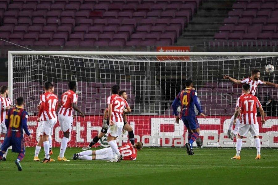 Con un golazo de Messi, Barcelona venció a Athletic en medio del escándalo