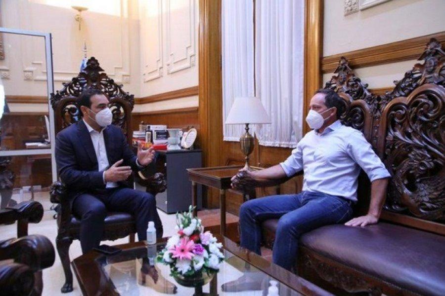 Valdés con Camau: Una reunión con señal electoral