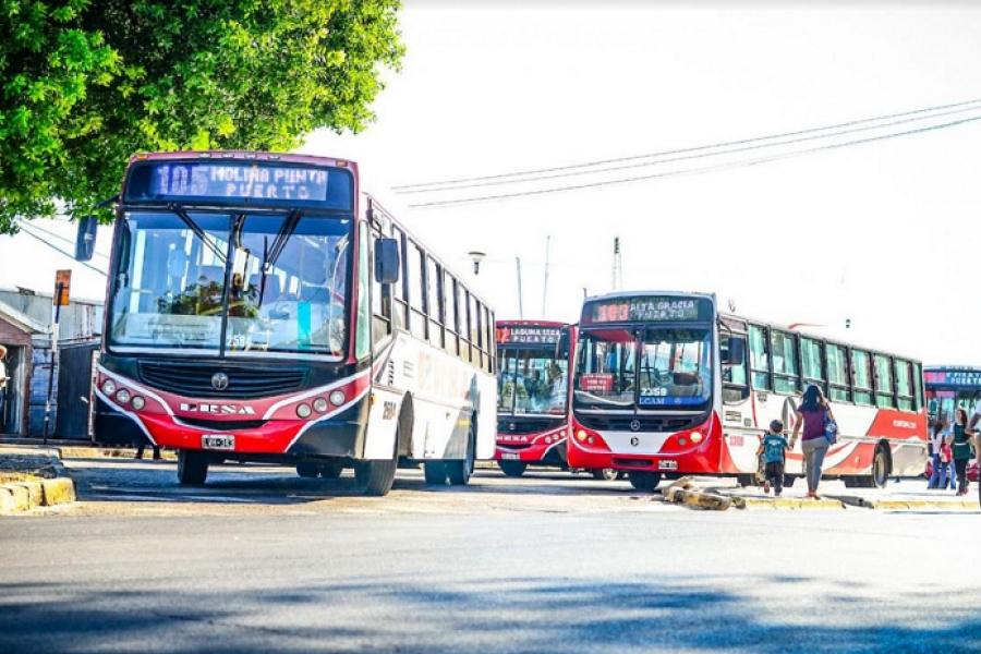 Nueva amenaza de paro de colectiveros en Corrientes