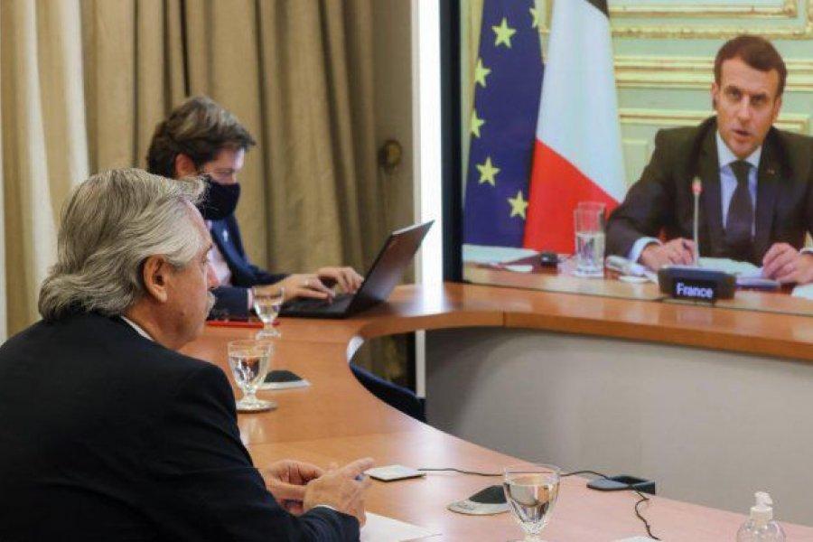 Acuerdo con el FMI: Alberto Fernández recibió el apoyo de Macrón