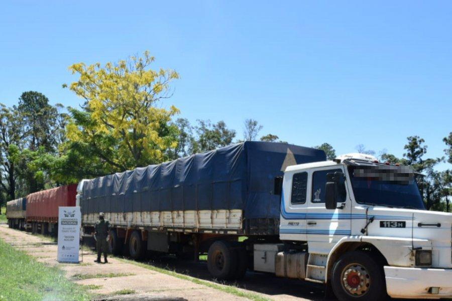 Gendarmería decomisó 88 toneladas de soja transportadas de manera ilegal