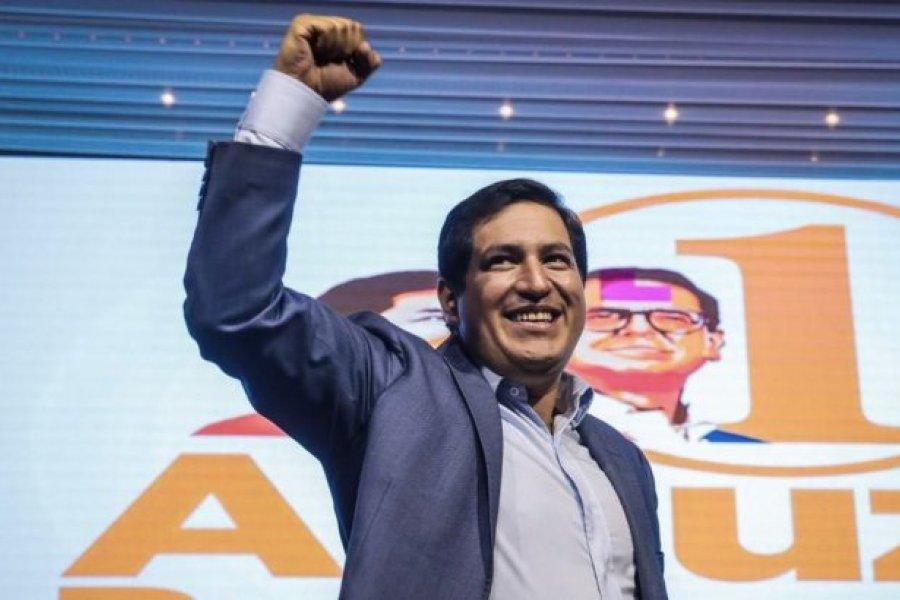 """Arauz se declaró ganador en Ecuador aunque pidió """"esperar los resultados oficiales"""""""
