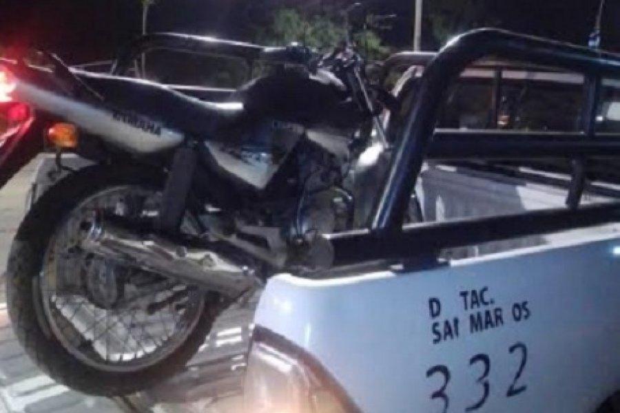 Recuperan motocicleta sustraída